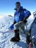 Ted F. wearing 40 Below Purple Haze overboots on Mt.Vinson Antarctica 2009