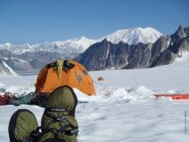 Scott M and Camp Booties Pika Glacier Alaska 2012