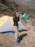 Felice G. wearing FB Camp Booties in Nepal 2012