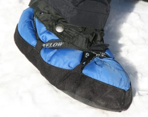 Image of forty below camp bootie with gaiter attached